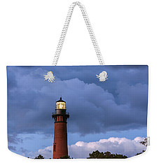 Storm Looms Near Currituck Beach Lighthouse Weekender Tote Bag