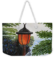 Weekender Tote Bag featuring the painting Storm On Lake Of The Woods by Marilyn  McNish