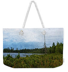 Weekender Tote Bag featuring the digital art Storm On Raquette Lake by Christopher Meade
