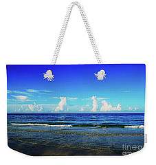 Weekender Tote Bag featuring the photograph Storm On The Horizon by Gary Wonning