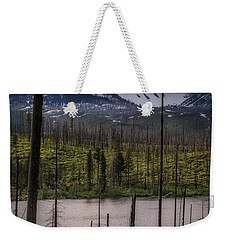 Weekender Tote Bag featuring the photograph Storm On Three Fingered Jack by Cat Connor