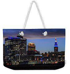 Storm Over Cleveland Weekender Tote Bag