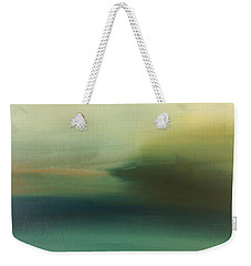 Weekender Tote Bag featuring the painting Storm Over Cuba by Michelle Abrams