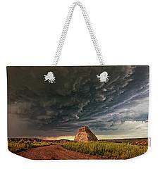 Storm Over Dinosaur Weekender Tote Bag