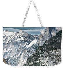 Weekender Tote Bag featuring the photograph Storm Over Half Dome by Sandra Bronstein