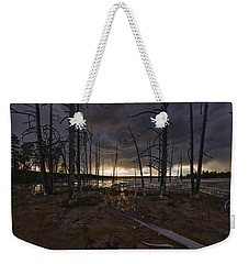 Storm Over Lower Geyser Basin Weekender Tote Bag