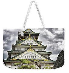 Storm Over Osaka Castle Weekender Tote Bag
