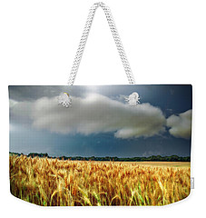 Storm Over Ripening Wheat Weekender Tote Bag