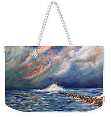 Storm Over The Ocean Weekender Tote Bag by Dorothy Maier