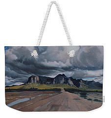 Storm Over The Superstitions Weekender Tote Bag