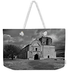 Weekender Tote Bag featuring the photograph Storm Over Tumacacori II by Sandra Bronstein