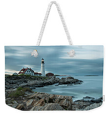 Storm Passing At Portland Head Light Weekender Tote Bag