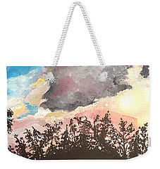 Storm Passing Through Weekender Tote Bag