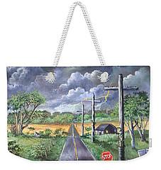Storm Weekender Tote Bag by Randy Burns