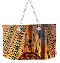 Weekender Tote Bag featuring the photograph Storm Ship Of Old by Lori Seaman
