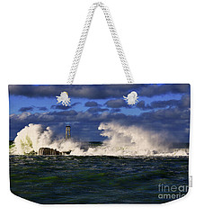 Storm Surf Batters Breakwater Weekender Tote Bag