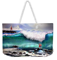 Storm Surf Moment Weekender Tote Bag