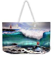 Storm Surf Moment Weekender Tote Bag