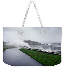Storm Wall Weekender Tote Bag by Lon Casler Bixby