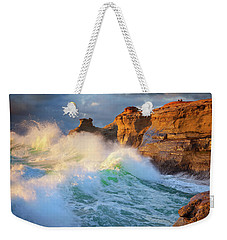 Weekender Tote Bag featuring the photograph Storm Watchers by Darren White