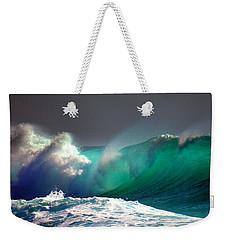 Storm Wave Weekender Tote Bag