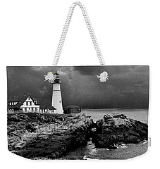 Storms Over The Head Bnw Weekender Tote Bag
