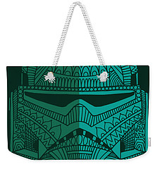 Stormtrooper Helmet - Star Wars Art - Blue Green Weekender Tote Bag