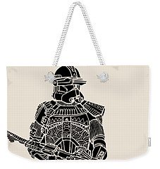 Stormtrooper Samurai - Star Wars Art - Black Weekender Tote Bag