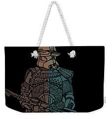 Stormtrooper Samurai - Star Wars Art - Minimal Weekender Tote Bag