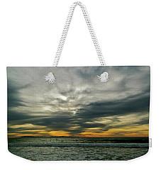 Stormy Beach Clouds Weekender Tote Bag