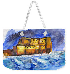 Stormy Castle Dell'ovo, Napoli Weekender Tote Bag by Clyde J Kell