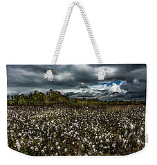 Stormy Cotton Field Weekender Tote Bag