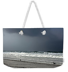 Weekender Tote Bag featuring the photograph Stormy by Debra Forand