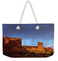 Weekender Tote Bag featuring the photograph Stormy Desert by Chad Dutson