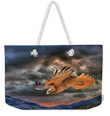 Stormy Flight Weekender Tote Bag by Donna Kennedy