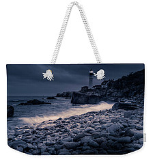 Weekender Tote Bag featuring the photograph Stormy Lighthouse 2 by Doug Camara