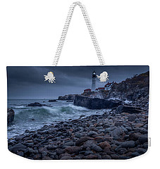 Weekender Tote Bag featuring the photograph Stormy Lighthouse by Doug Camara