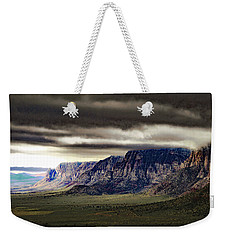 Stormy Morning In Red Rock Canyon Weekender Tote Bag by Alan Socolik
