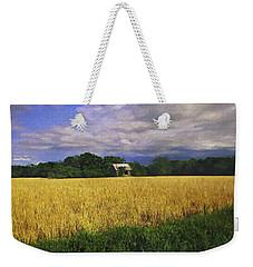 Stormy Old Barn In Wheat Field 2 Weekender Tote Bag