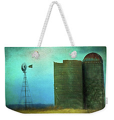 Stormy Old Silos And Windmill Weekender Tote Bag