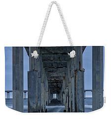 Stormy Pier In Ocean Beach Weekender Tote Bag