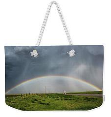 Stormy Rainbow Weekender Tote Bag