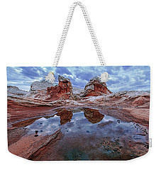 Stormy Reflection Weekender Tote Bag