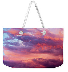 Weekender Tote Bag featuring the photograph Stormy Southwest Sunset Horizontal by SR Green