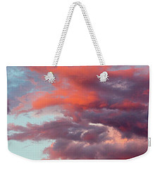 Weekender Tote Bag featuring the photograph Stormy Southwest Sunset Vertical by SR Green