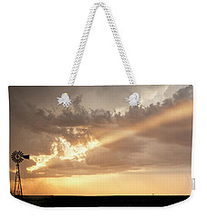 Stormy Sunset And Windmill 01 Weekender Tote Bag by Rob Graham