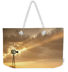 Stormy Sunset And Windmill 02 Weekender Tote Bag by Rob Graham