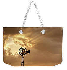 Stormy Sunset And Windmill 04 Weekender Tote Bag by Rob Graham