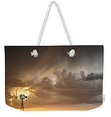Stormy Sunset And Windmill 06 Weekender Tote Bag by Rob Graham
