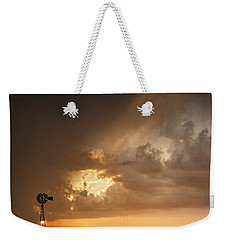 Stormy Sunset And Windmill 07 Weekender Tote Bag by Rob Graham